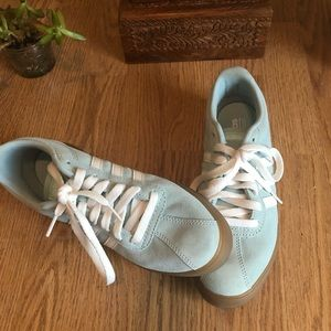 EUC Adidas Courtset Suede Sneaker in Mint Green